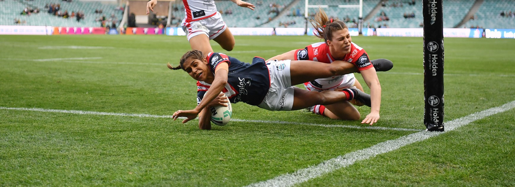 Roosters winger Taleena Simon.