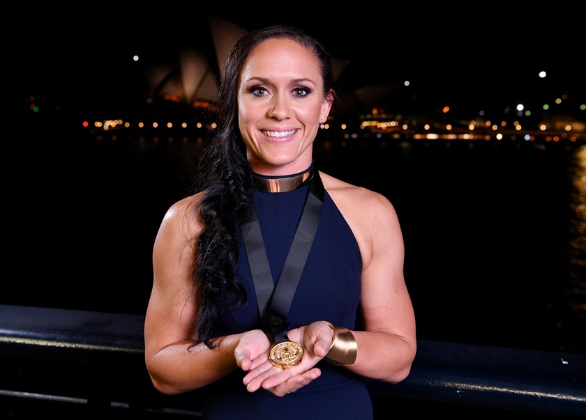 Women's Dally M Medal winner Brittany Breayley.