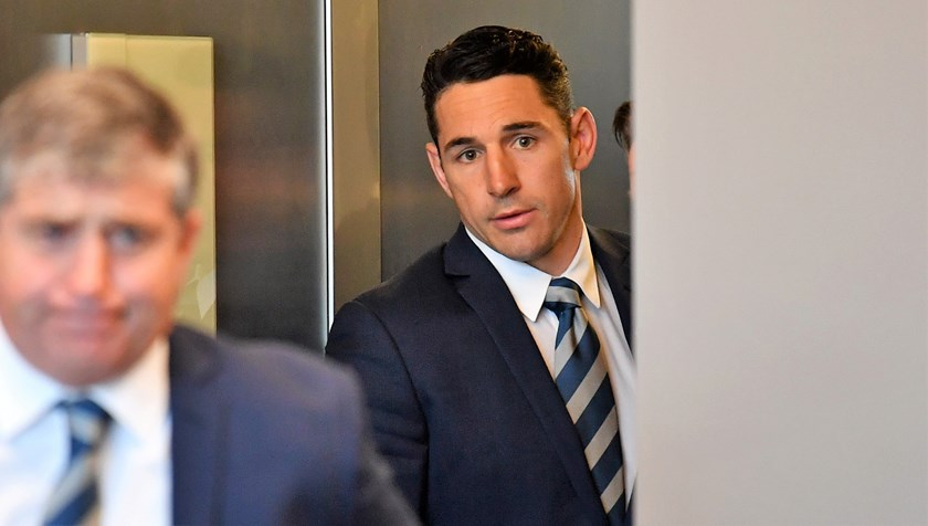 Billy Slater ahead of his judiciary hearing on Tuesday night.