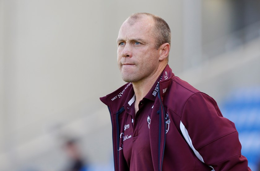 Geoff Toovey coaching Manly in 2014.