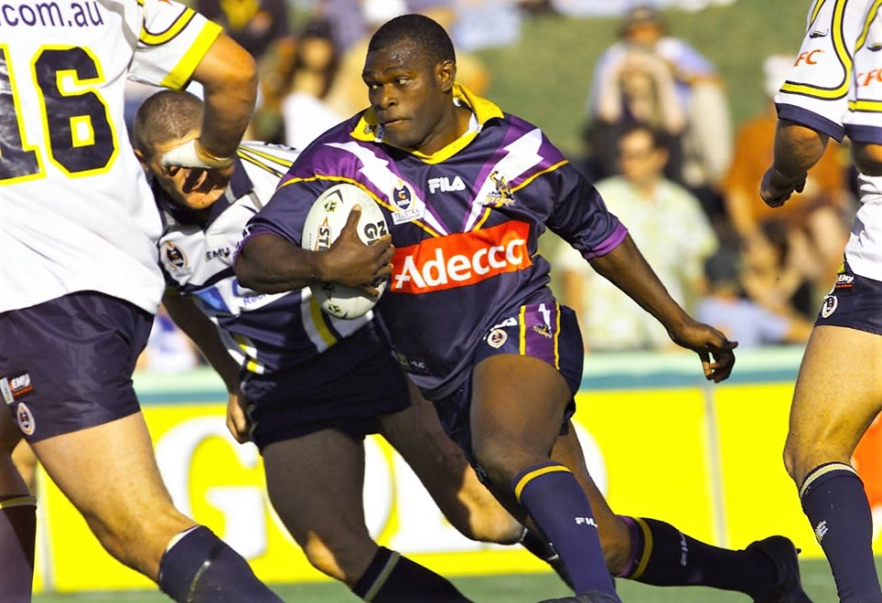 Melbourne Storm great Marcus Bai.