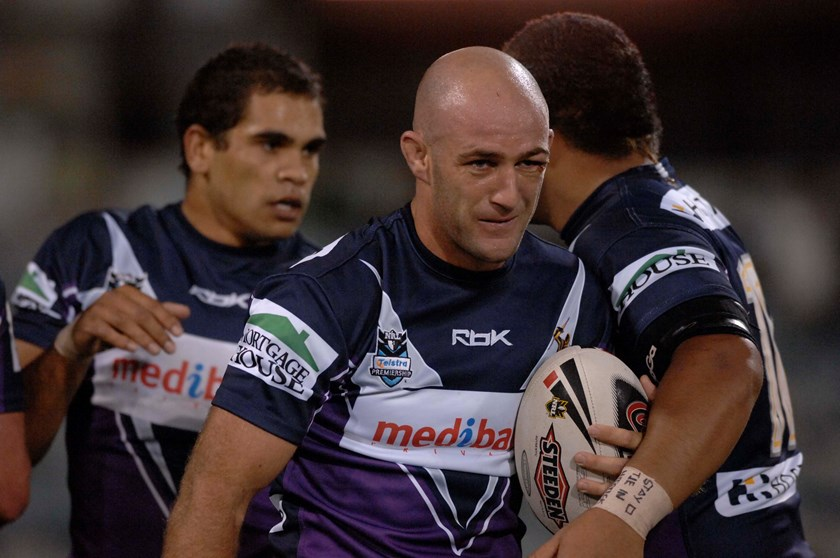 Storm stalwart Matt Geyer with a young Greg Inglis in 2007.