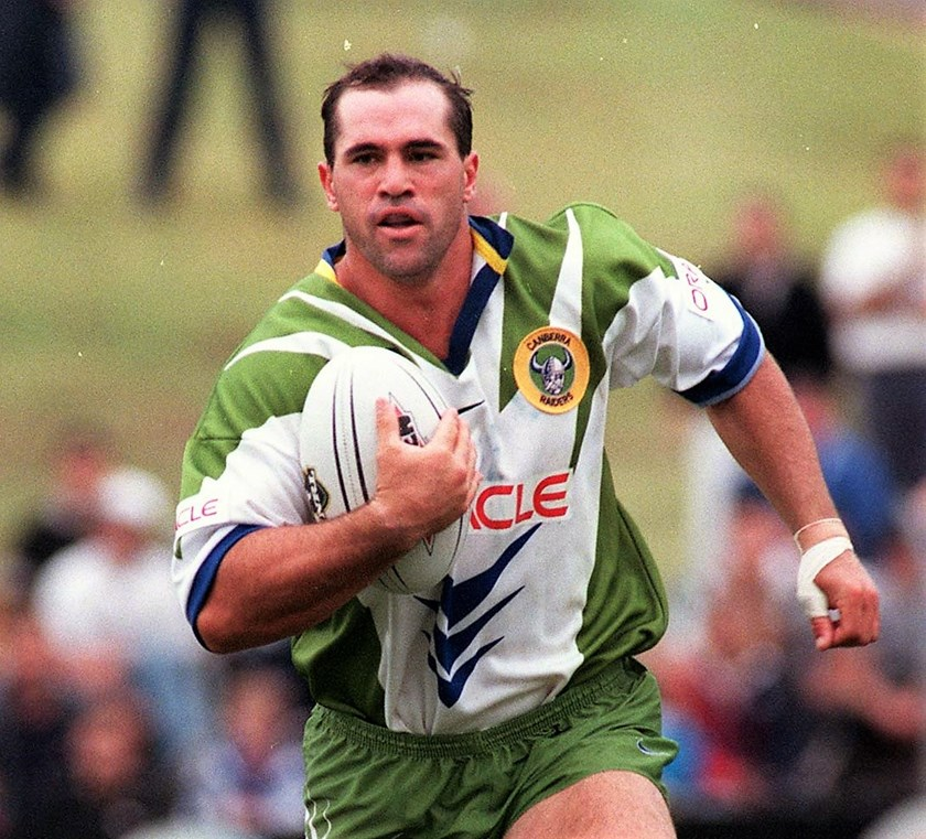 David Boyle in his playing days for the Canberra Raiders in the 1990s.