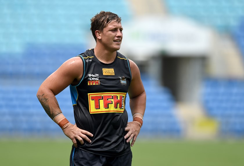 Gold Coast Titans forward Jarrod Wallace.