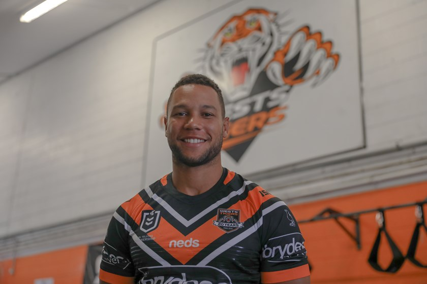 Wests Tigers skipper Moses Mbye.