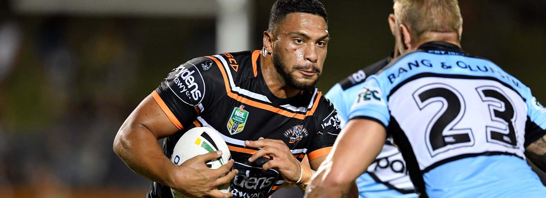 Sacked Wests Tigers centre Taane Milne.