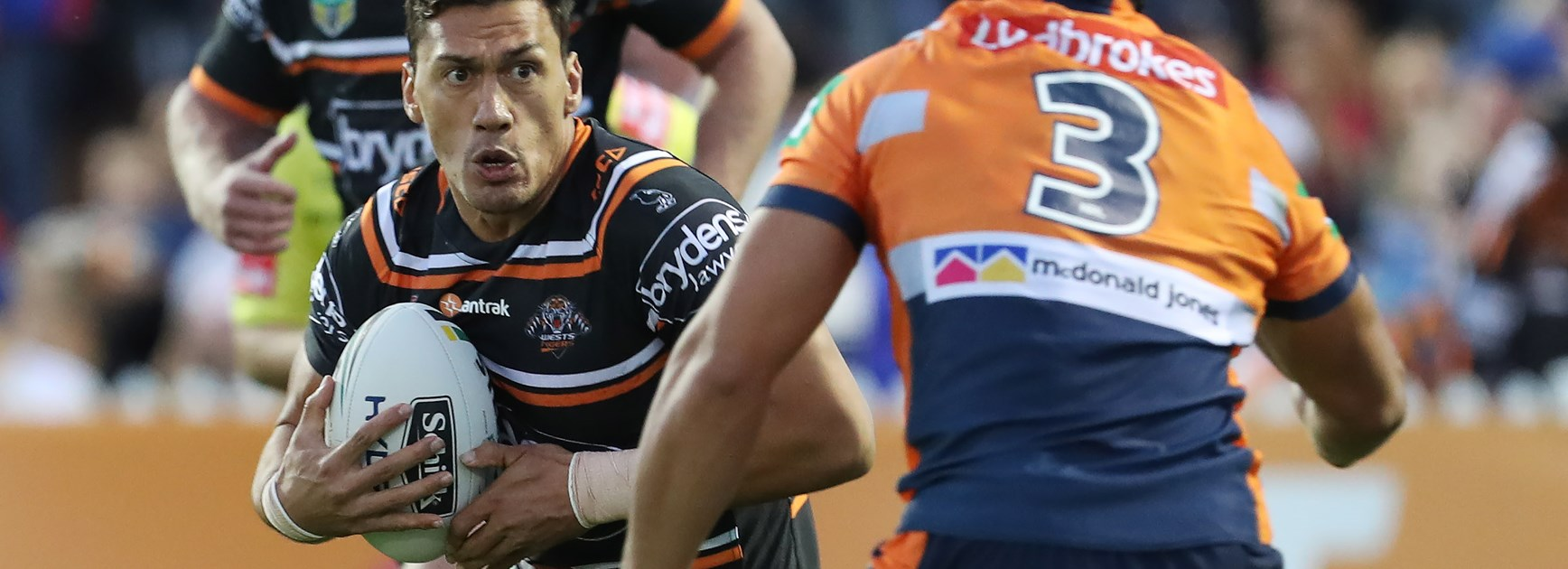 Wests Tigers forward Elijah Taylor.