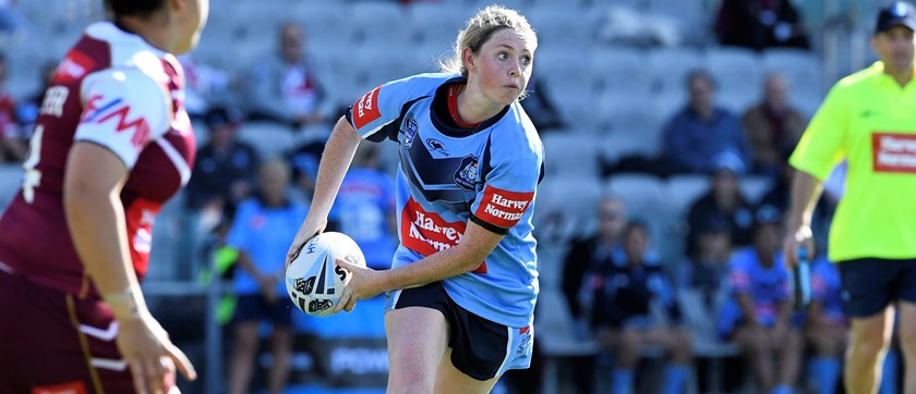 Maddison Studdon in action for NSW in 2017.