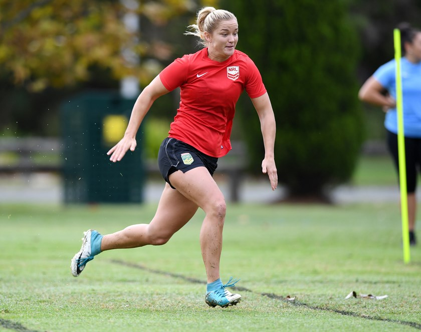Jillaroo Meg Ward is one of six debutants in the Queensland Origin women's team.