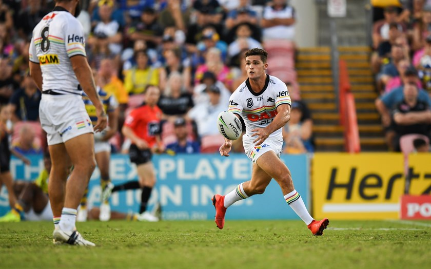 Penrith halfback Nathan Cleary.