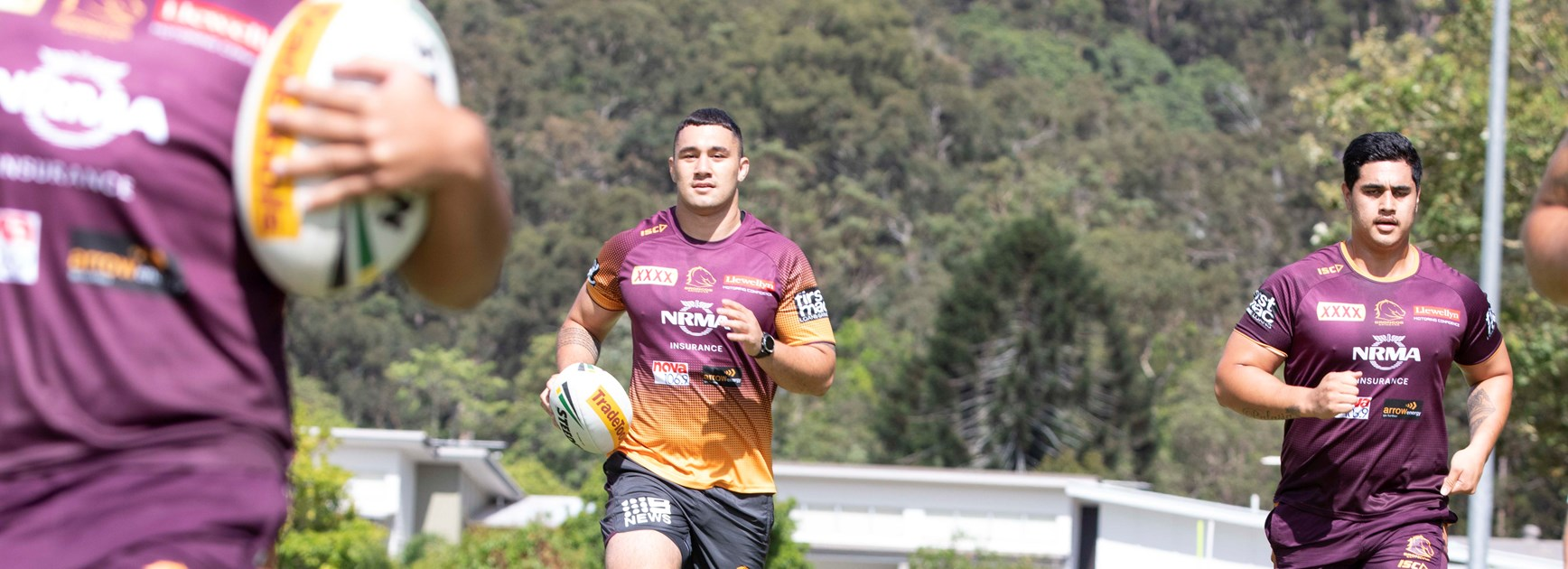 Jaydn Su'A in 2019 pre-season training.