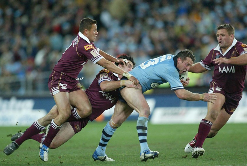 NSW lock Shaun Timmins in the 2004 decider