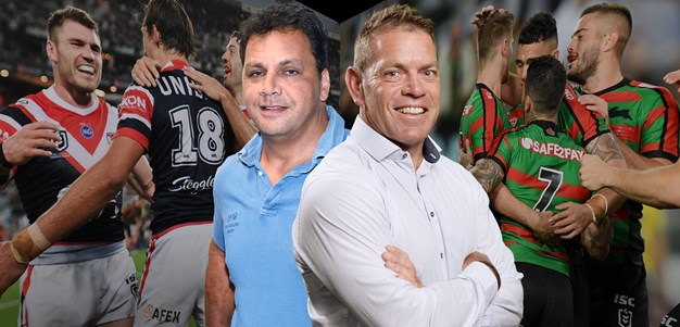 Roosters v Rabbitohs: Guest coaches Kimmorley and Renouf go head-to-head