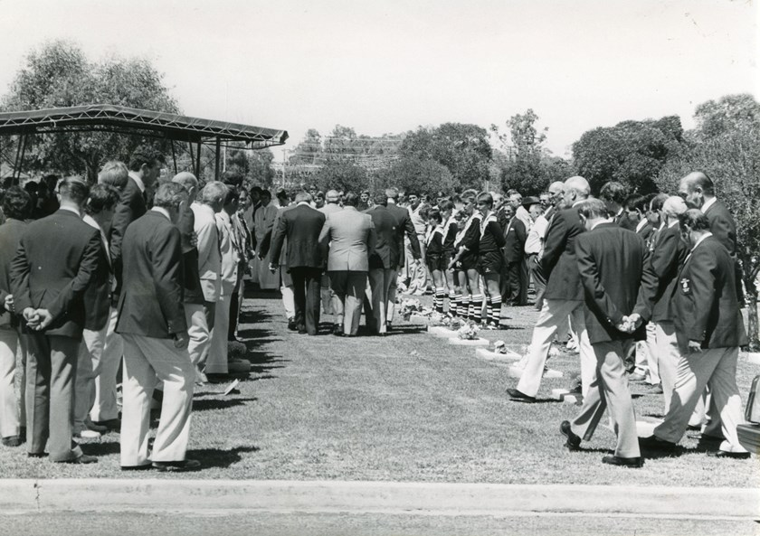 A scene from John Donnelly's funeral.