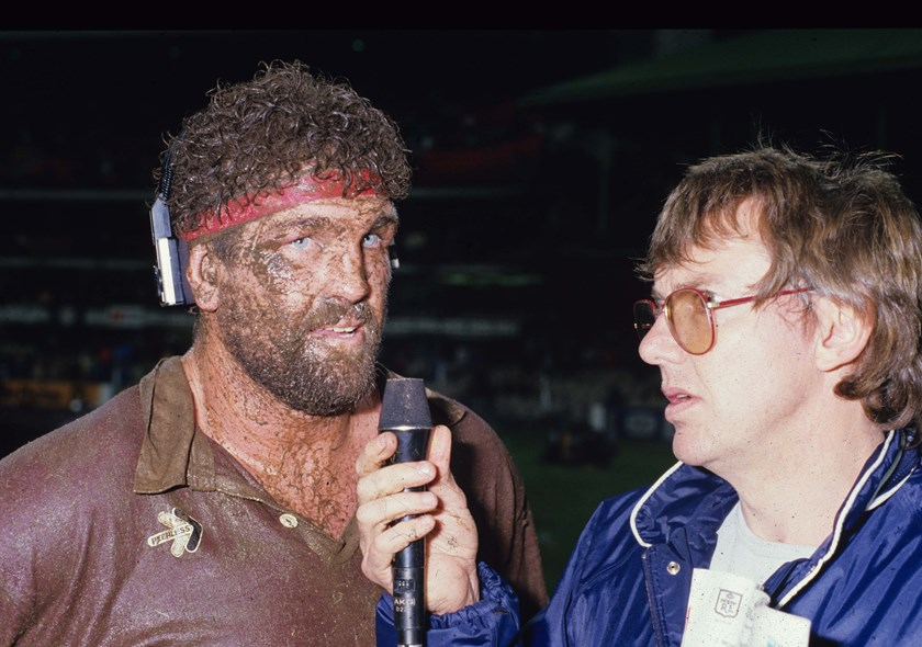 Greg Dowling is interviewed at the SCG after scoring his famous try in 1984.