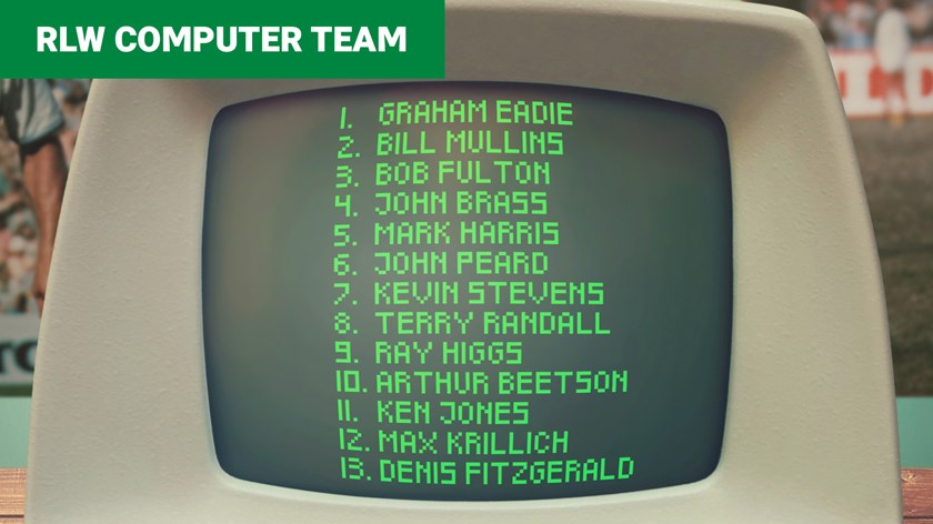 The original NRL Fantasy: 1976 'computer team' includes familiar