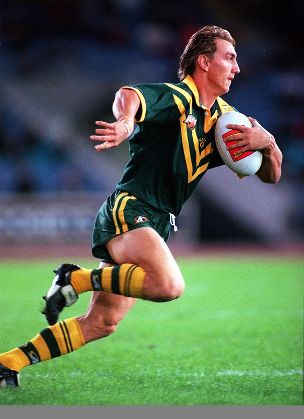 Sharks winger Mat Rogers represented Australia in league and union.