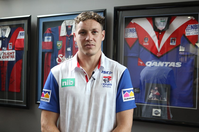 Newcastle Knights recruit Kurt Mann.