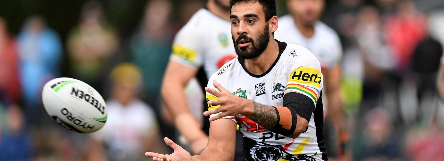 Panthers utility Tyrone May has been stood down over a sex-tape scandal.