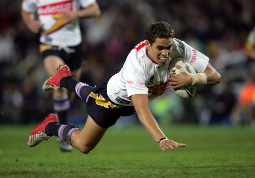 Greg Inglis in his rookie season for the Melbourne Storm in 2005.