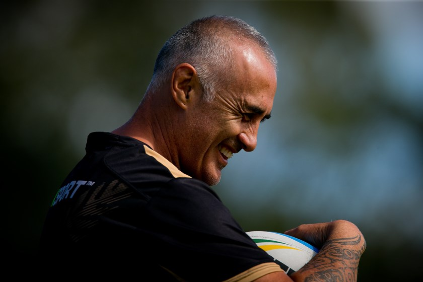 Quentin Pongia during a Junior Kiwis training session in 2015.