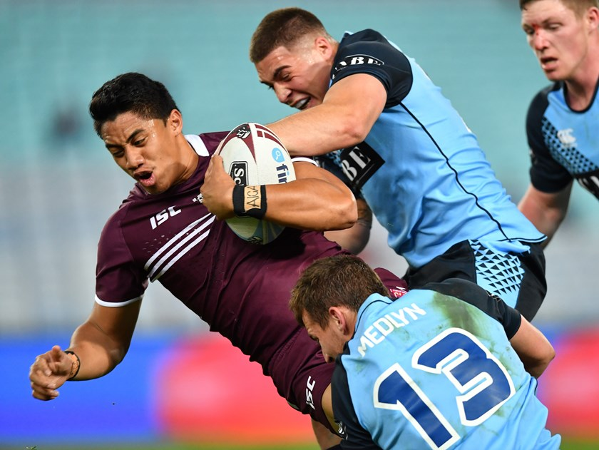 Murray Taulagi in action for Queensland under 20s.