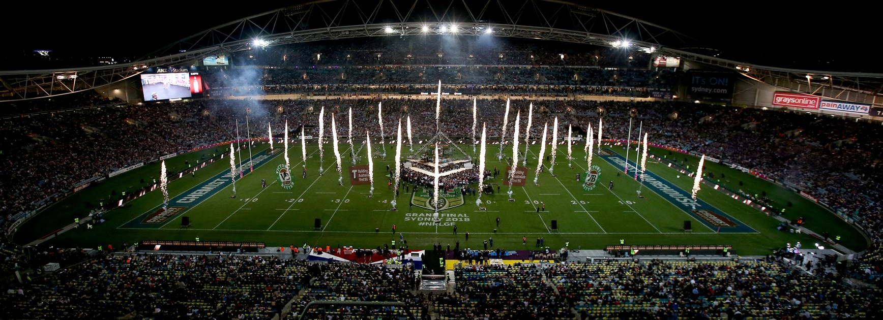 The 2018 grand final at ANZ Stadium.