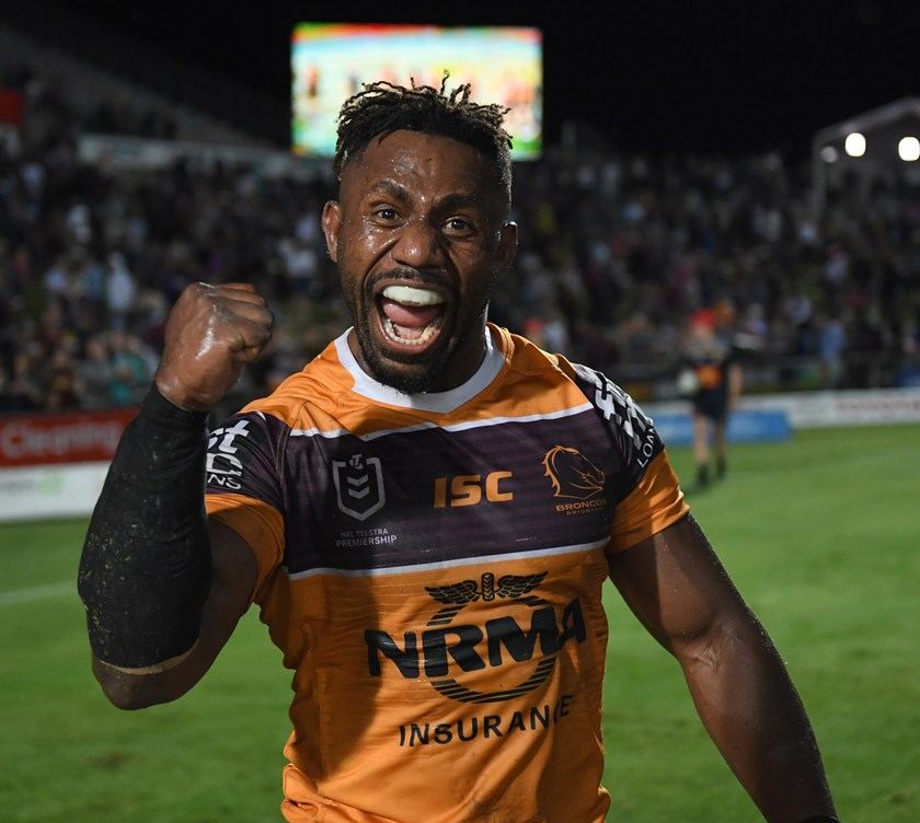 Brisbane Broncos hooker James Segeyaro.