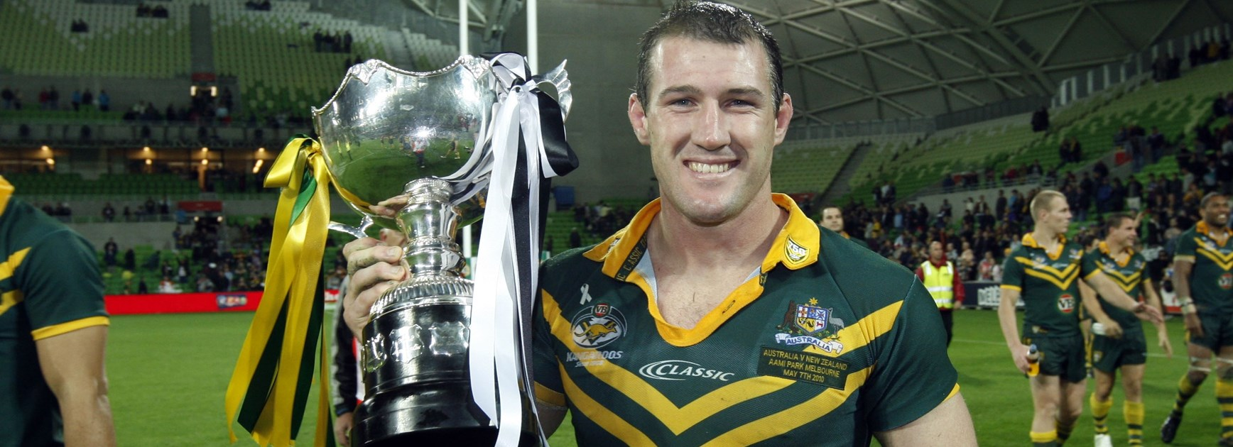 Paul Gallen after a Test match in 2010.