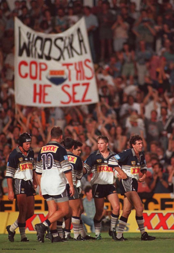 The Cowboys during a home game in 1995.