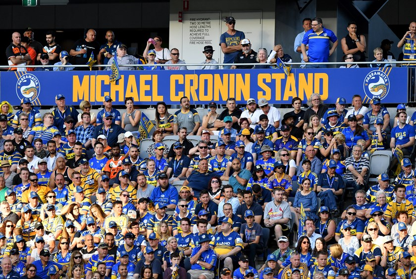 The Michael Cronin stand at Bankwest Stadium.