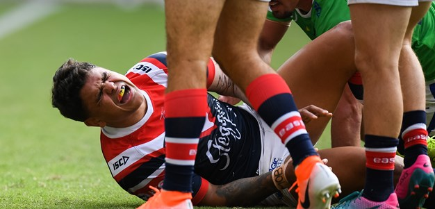 Mitchell scare as Roosters hold off Raiders