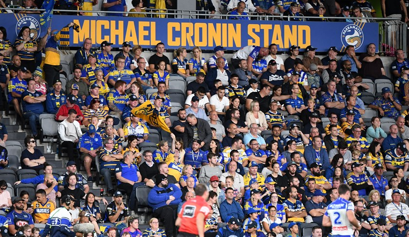 Eels fans at Bankwest Stadium.