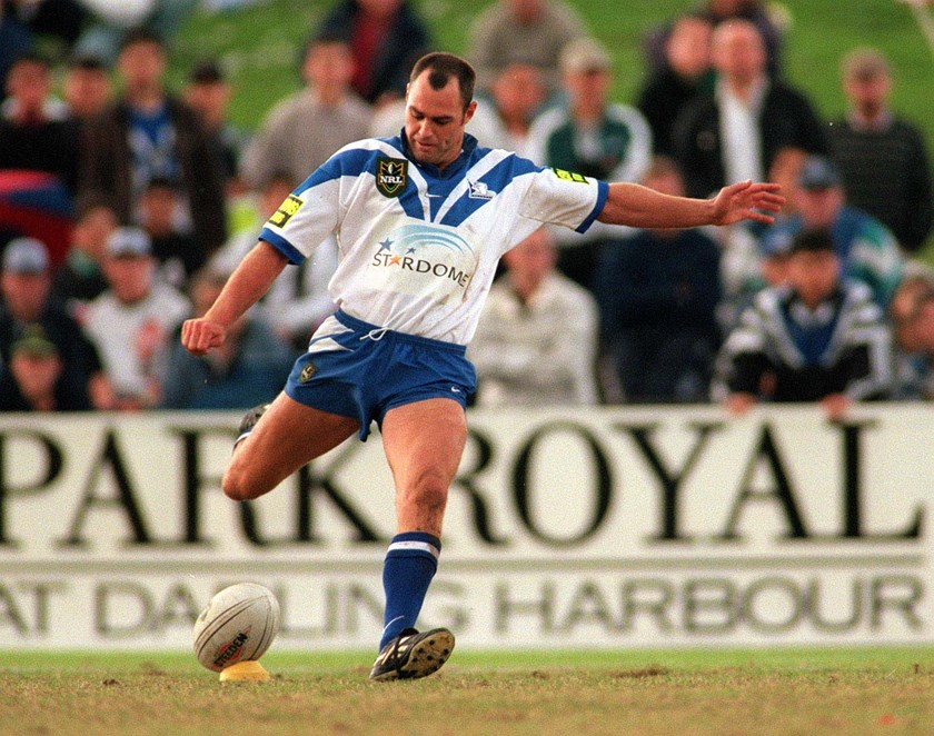 Daryl Halligan in action for Canterbury in 1998.