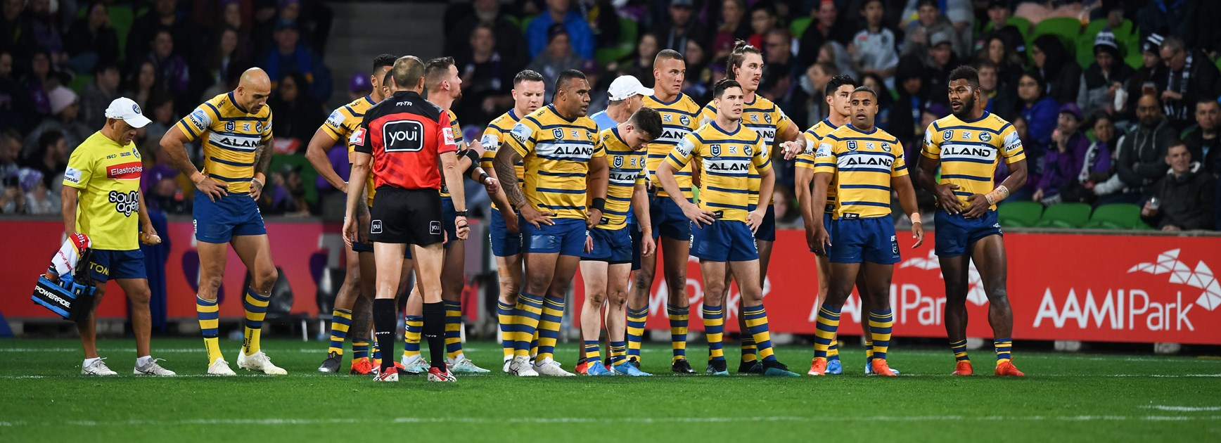 The dejected Parramatta Eels.