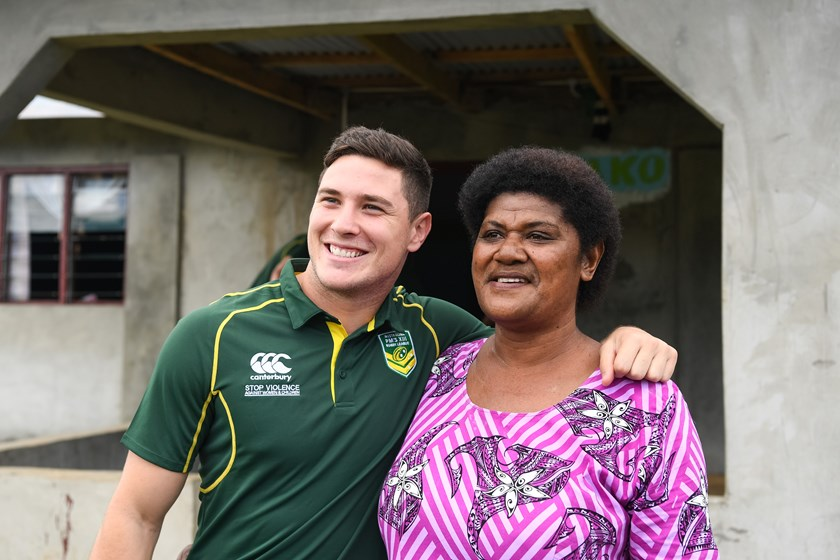 Mitchell Moses meets Maika Sivo's mum Mere in the village of Momi.