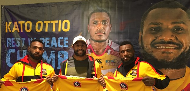 'Forever in our hearts': Kumuls playing in memory of Kato Ottio