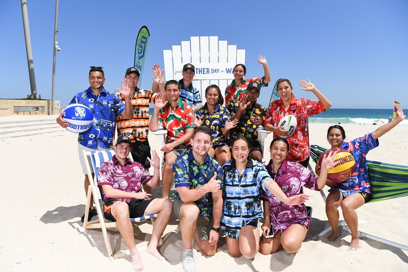 The launch of the NRL Nines in Perth.