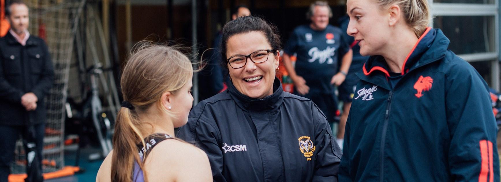 Women in League award winner Biance Johnston.