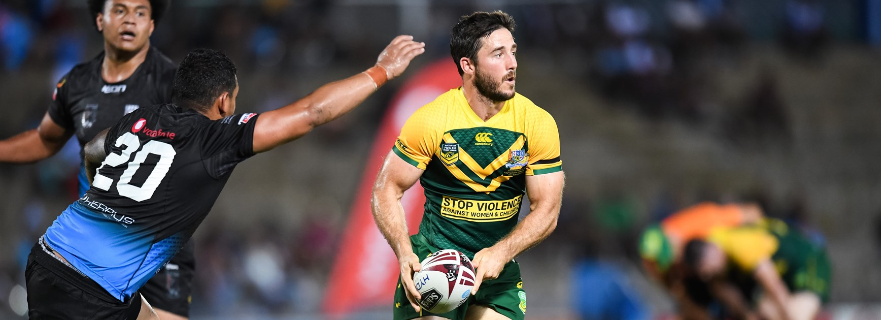 Ben Hunt on the move for the PM's XIII against Fiji.