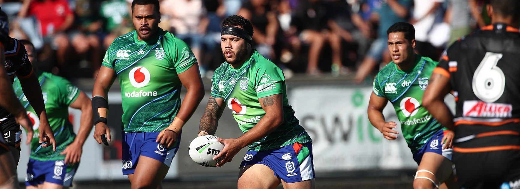 Warriors forward Jazz Tevaga.