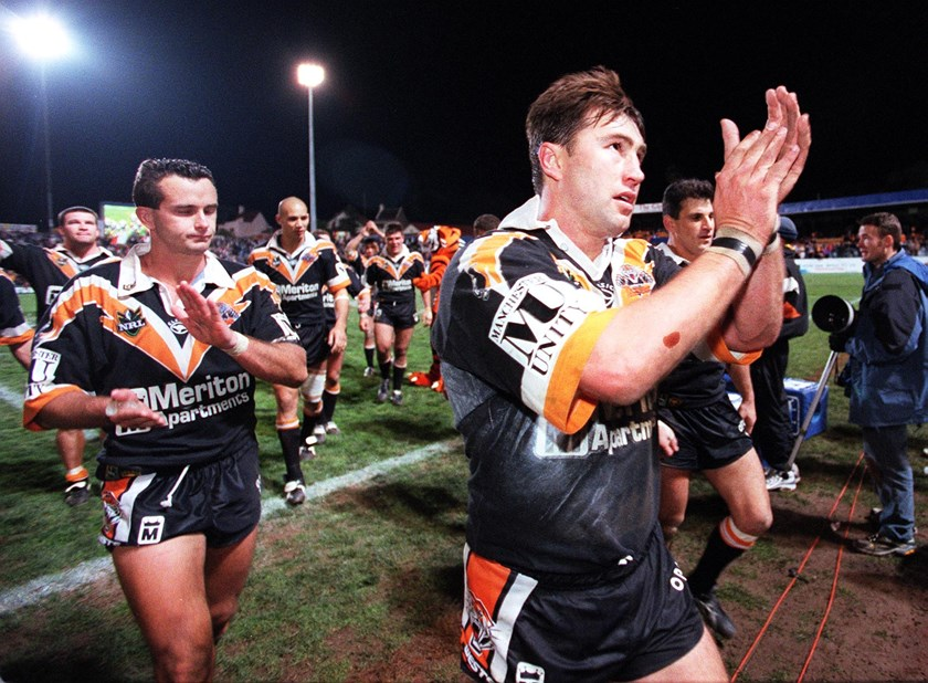 Terry Hill salutes Wests Tigers fans.