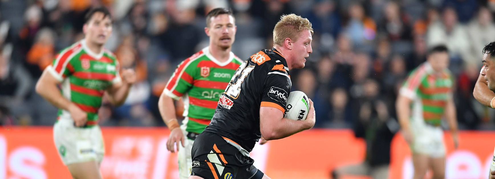 Young wests Tigers prop Oliver Clark could be the team's lucky charm