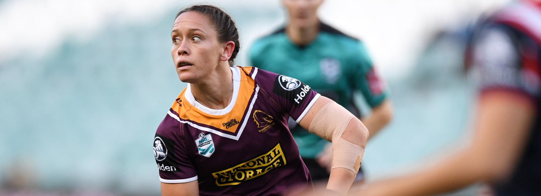 Broncos player Brittany Breayley.