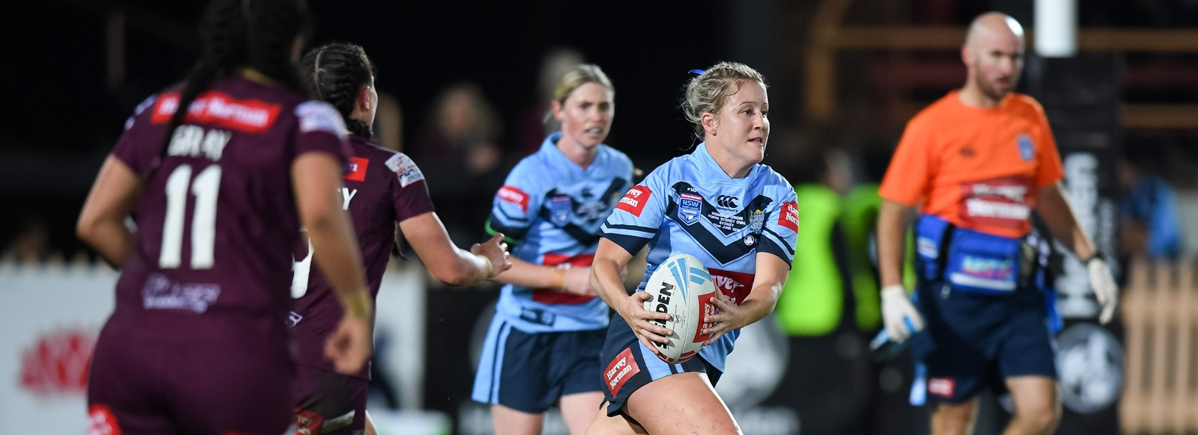 Talesha Quinn in action for NSW in 2018.