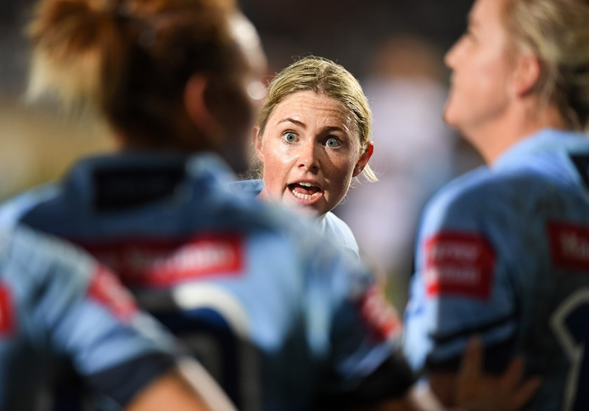 Maddie Studdon playing for NSW in the 2018 Origin clash.