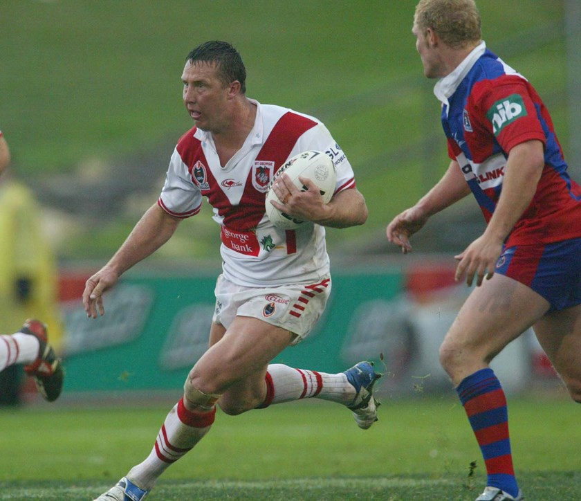 St George Illawarra lock Shaun Timmins in 2004.