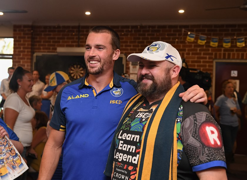 Eels captain Clint Gutherson at the Cobargo Hotel.