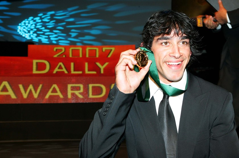 Thurston with the 2007 Dally M Medal.