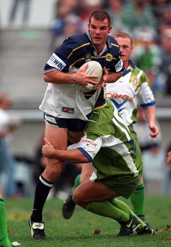 Roberts during his final season at North Queensland in 1998.